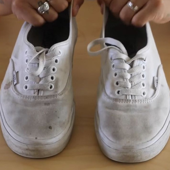 tip how to clean your white shoes 24 7