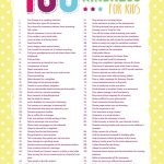 Free 100 Acts of Kindness for Kids Printable