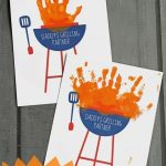 Free Handprint Daddy's Grilling Partner Printable