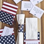Free 4th of July Trivia Cards & Utensil Holder Printables