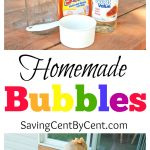 MOM Tip: Homemade Bubbles Recipe