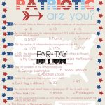 Free 4th of July Party Game Quiz Printable