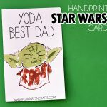 MOM Tip: Handprint Yoda Father's Day Card