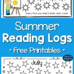 Free Summer Reading Logs for Kids Printables