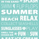 Free Summer Subway Art Printable