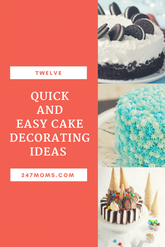 Quick Easy Cake Decorating Tips : 12 Quick and Easy Cake Decorating Ideas - 24/7 Moms