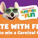 Free Summer Toys for a Limited Time & Cruise Sweepstakes from Chuck E. Cheese's
