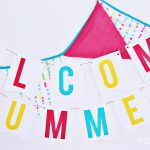 Free Welcome Summer Banner Printable