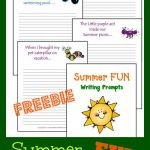 Free Summer Writing Prompt Printables