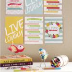 Free Live Loudly Mini Printables
