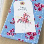 Free Floral Birthday Gift Tag Printables