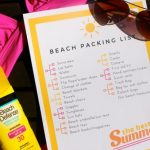 Free Beach Vacation Packing List Printable