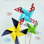 MOM Tip: DIY Giant Paper Pinwheels