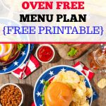 Summer Oven Free Menu Plan for July