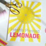 Free Summer Lemonade Stand Printables