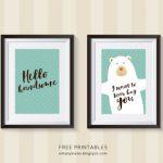 Free Nursery Room Decor Printables