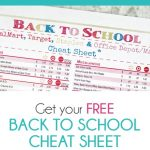 Back to School Cheat Sheet