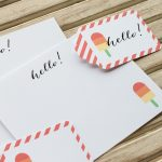 Free Popsicle Stationery Printables