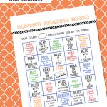 Free Summer Reading Bingo Card Printable