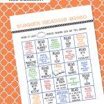 Free Summer Reading Bingo Card Printable