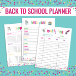 Free Back to School Planner Printable
