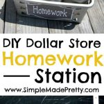 MOM Tip: DIY Dollar Store Portable Homework Station