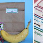 Free School Snack Labels Printables