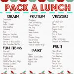 Free Pack a Lunch Printable