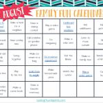 Free Family Fun Calendar Printable for August