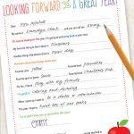 Free Back to School Teacher Letter