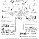 Free Solar Eclipse Coloring Page Printable