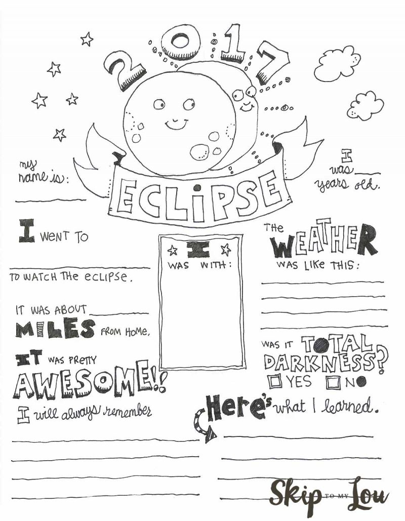 solar eclipse coloring pages Free Solar Eclipse Coloring Page Printable   24/7 Moms solar eclipse coloring pages