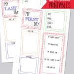 Free First Day Of School Memory Page Printable