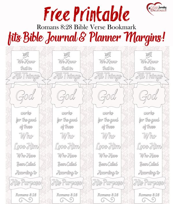 picture relating to Romans Road Bookmark Printable called Free of charge Coloring Bible Bookmark Printable - 24/7 Mothers