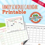 Back to School Organization with FREE Family Schedule Calendars