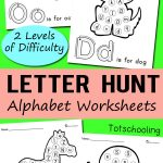 Free Alphabet Letter Hunt Worksheet Printables