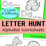 Free Alphabet Letter Hunt Worksheet Printables