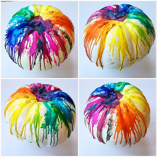 Melted Crayon Pumpkin idea from Crafty Morning  sc 1 st  24/7 Moms & 20 Pumpkin Decorating Ideas Without Carving - 24/7 Moms