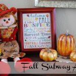 Free Fall Subway Art Printable