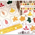 Free Fall Leaves Matching Game Printable