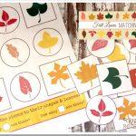 Free Fall Leaves Matching Game Printable