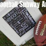 Free Football Subway Art Printable