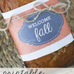 Free Fall Bread Wrap Label Printables
