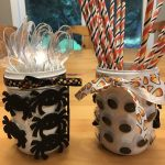 Simple Halloween Utensil Holders for Spooktacular Entertaining
