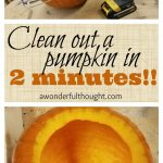 MOM Tip: How to Clean Out a Pumpkin in 2 Minutes