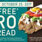 Free Gyro at Quiznos