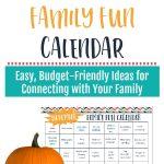 Free Family Fun Calendar Printable for November