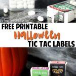 Free Halloween Tic Tac Label Printables