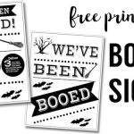 Free You've Been Booed Sign Printables