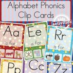 Free Alphabet Phonics Clip Card Game Printable